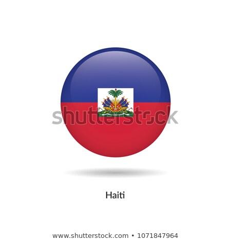 Cam düğme bayrak Haiti kırmızı yay Stok fotoğraf © maxmitzu