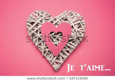 плетеный сердце орнамент розовый Сток-фото © wavebreak_media