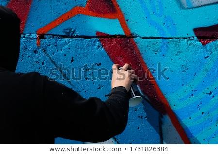 Városi graffiti téglafal épület fal utca Stock fotó © Marcogovel