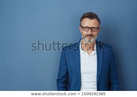 Retrato adulto hombre pie fondo jóvenes Foto stock © luckyraccoon