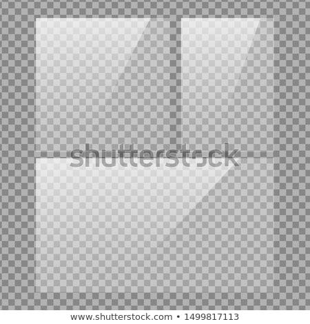 Resim çerçevesi pencere yansıma vektör karanlık eğim Stok fotoğraf © obradart