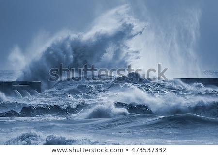 水 岩 海 美しい 砂浜 ストックフォト © jrstock
