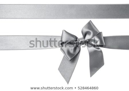 銀 セット リボン グラフィック ウェブ ストックフォト © obradart