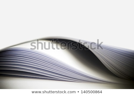 Arched book pages viewed up close. Stock photo © justinb