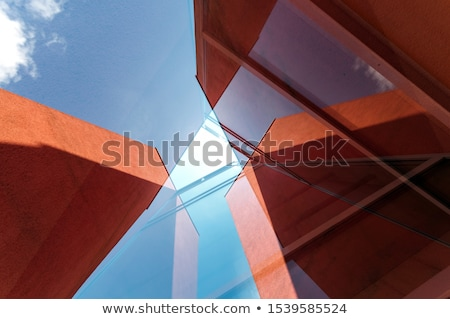 Abstract architectuur gebouw ontwerp 3D model Stockfoto © ixstudio