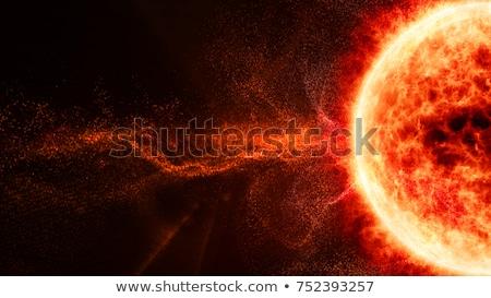 Resumen solar llamarada aislado blanco fuego Foto stock © ArenaCreative