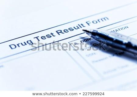 Drug Test Foto d'archivio © cozyta