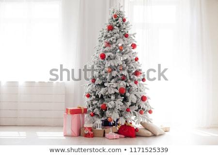 witte · kerstboom · bal · decoratie · winter · geschenk - stockfoto © Alenmax