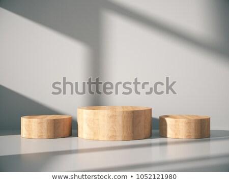 vide · bois · boîte · isolé · blanche - photo stock © taviphoto