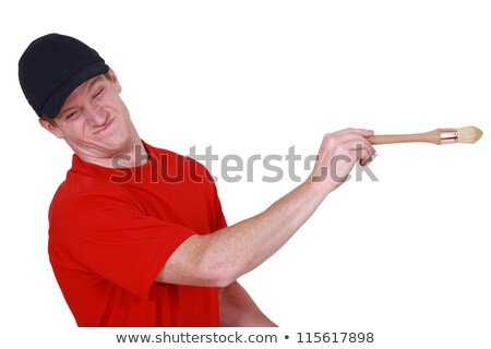 Decorator with a distasteful look on his face Stock photo © photography33