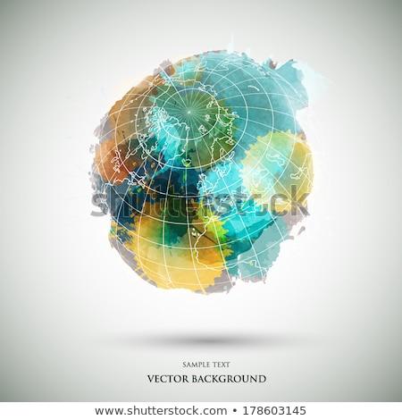 Grunge su dünya vektör gökyüzü dizayn Stok fotoğraf © burakowski