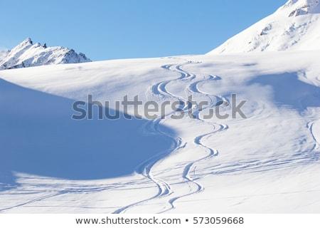 Stock photo: Off piste slope