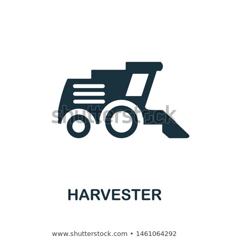 sign combine harvesters and forage harvester stock photo © ustofre9