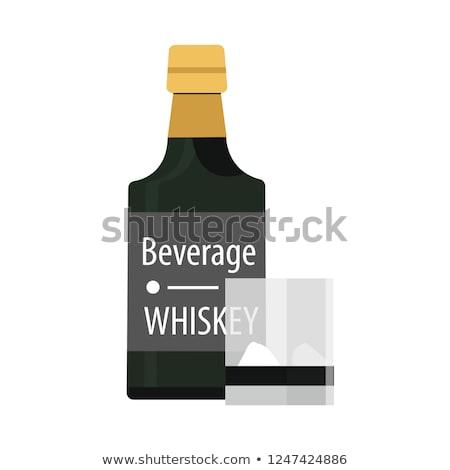Alkoholos ital logo buli bor gyümölcs pezsgő Stock fotó © shawlinmohd