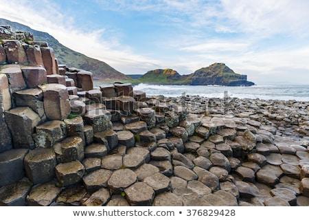 Unusual geology at Giants Causeway Ireland Stock photo © backyardproductions