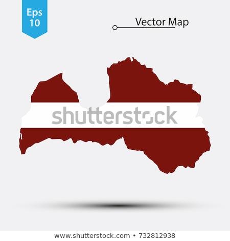 Lettország kicsi zászló térkép szelektív fókusz háttér Stock fotó © tashatuvango
