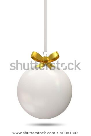 Karácsony golyók dekoráció 2011 év izolált Stock fotó © REDPIXEL
