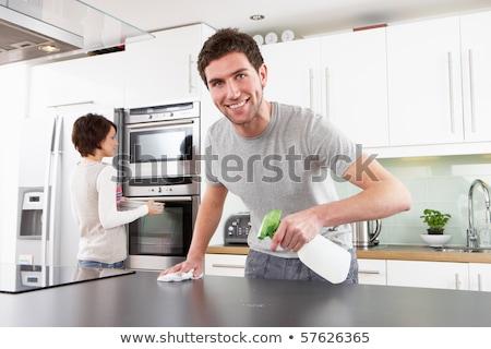 カップル · 食器洗い機 · 新しい · キッチン · ショールーム - ストックフォト © monkey_business