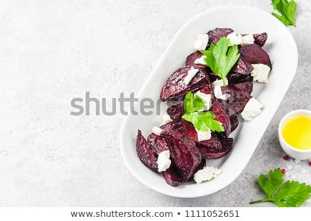 Fetasajt vacsora ebéd ebéd friss étel Stock fotó © M-studio