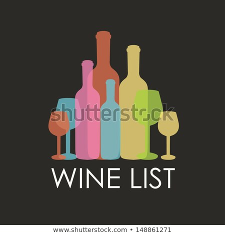 Wine bottle silhouette over black background  Stock photo © Nejron