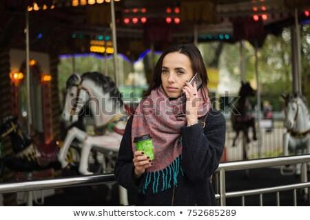 カップル · 馬 · ポニー · 安定した · 女性 · 男 - ストックフォト © konradbak