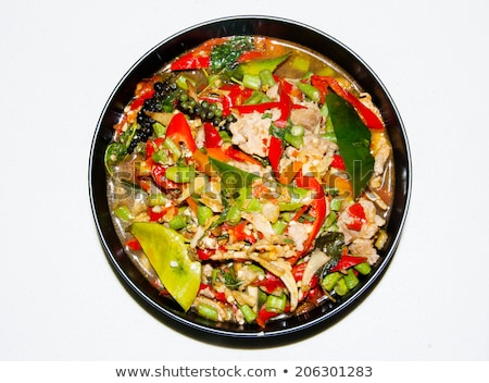 crop close up  spicy and colorful menu in thai food style  Stock photo © yanukit