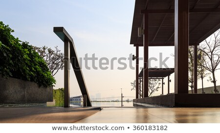 Caminata manera piscina residencia luz piedra Foto stock © punsayaporn
