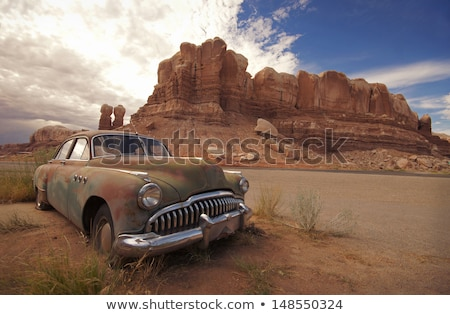 old car in the desert Stock photo © clearviewstock
