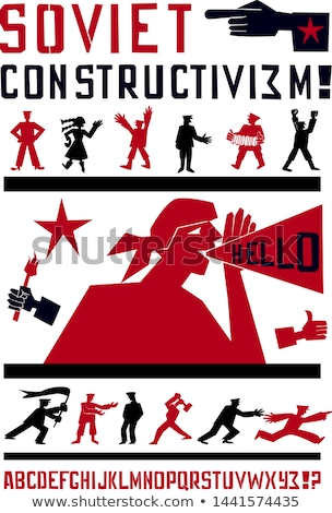 Vector red and black stencil in propaganda style  Stock photo © Elisanth