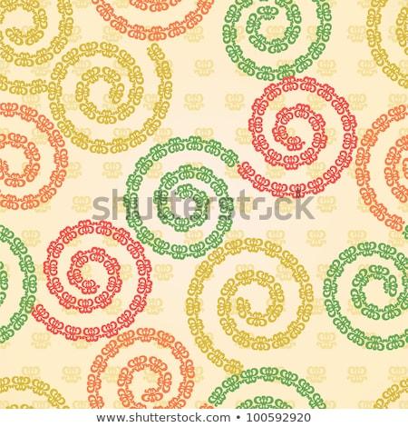 Decorative finishing ceramic tiles. Vector illustration Stock photo © leonido