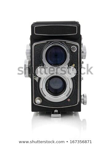 Stock fotó: öreg · kamera · kettő · lencsék · technológia · üveg