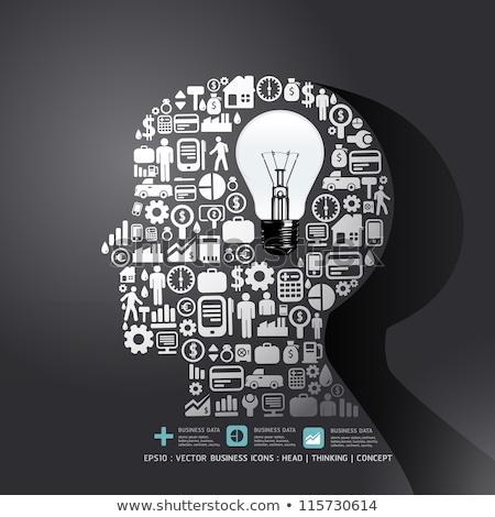 Positive Thinking Concept on the Gears. Stock photo © tashatuvango