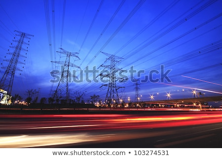 Highway Traffic and transmission tower  Stock photo © cozyta