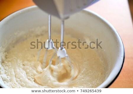 whipped cream on a metal corolla Stock photo © Peredniankina