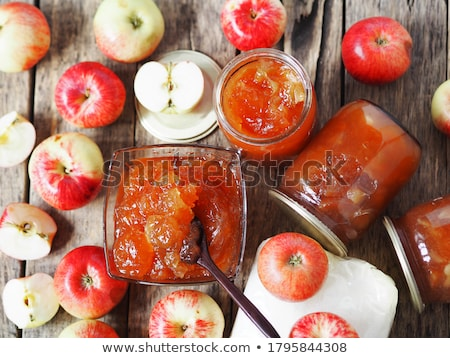 Fruit jelly sweets- apples & oranges. Stock photo © lucielang