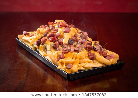 great bacon and cheese burger stock photo © klinker