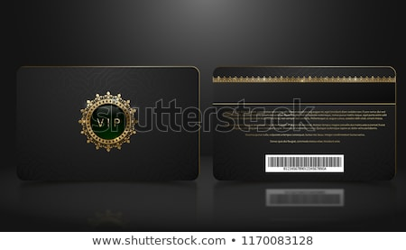 Black VIP member badge with golden vintage pattern Stock photo © liliwhite