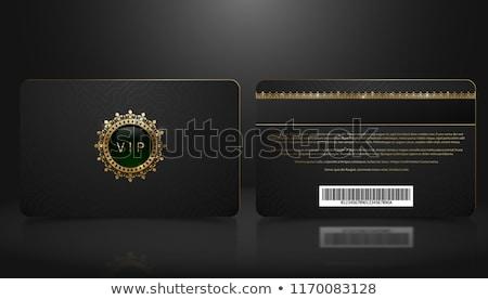 Czarny vip członek odznakę złoty vintage Zdjęcia stock © liliwhite