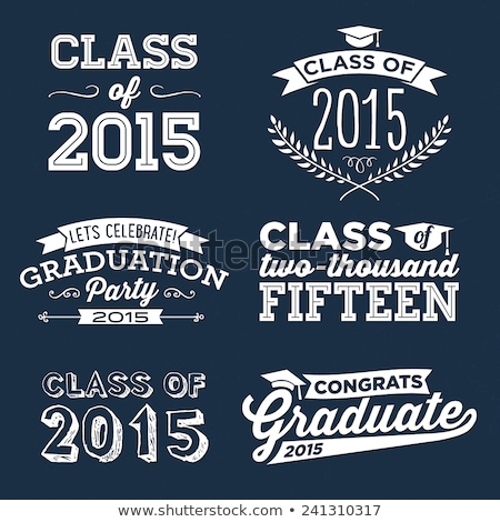 class of 2015 with graduate cap with tassel Stock photo © marinini