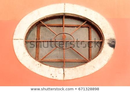 ржавые окна судно Label стекла кадр Сток-фото © FOTOYOU
