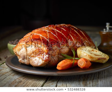 ham with roasted vegetables Stock photo © master1305
