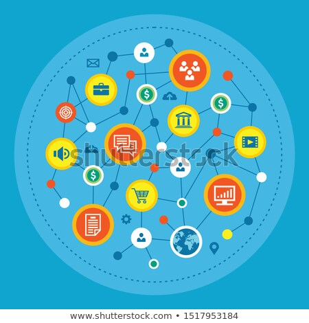vector abstract circles illustration infographic network template stock photo © orson