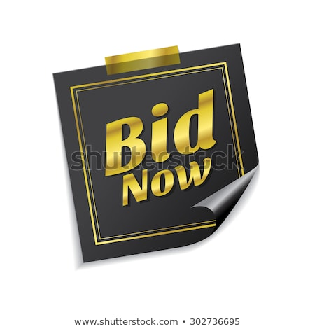 Bid Now golden Vector Icon Design Stock photo © rizwanali3d