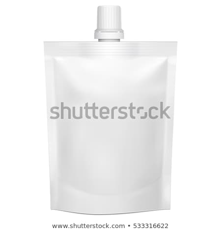 Blank spout pouch, bag foil or plastic packaging Stock photo © netkov1