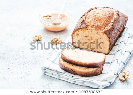 Pecan, apple and cinnamon loaf cake. Stock photo © rojoimages