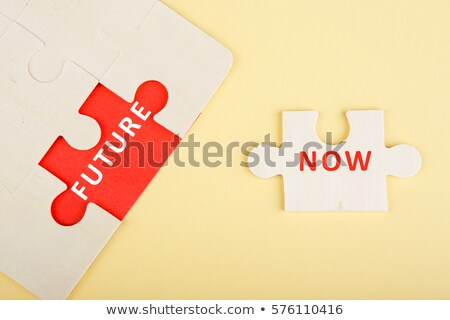 Now - Jigsaw Puzzle with Missing Pieces. Stock photo © tashatuvango