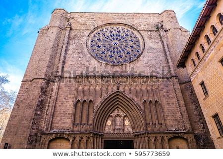 Bazylika Święty mikołaj pi Barcelona Hiszpania fasada Zdjęcia stock © Photooiasson