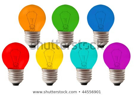 many lamps of color of rainbow collage stock photo © paha_l