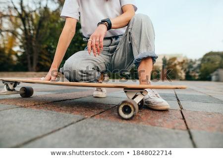 oturma · hip-hop · kız · bacak · yukarı · moda - stok fotoğraf © Paha_L