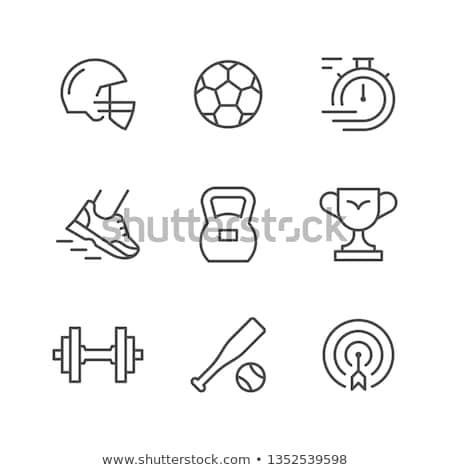 beisebol · softball · esportes · jogo · vetor · linha - foto stock © rastudio